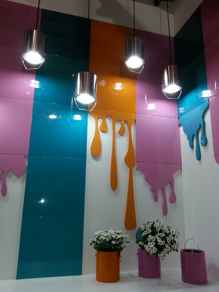 Cores pra que te quero! Centros de exposições modernos por Escritório de Arquitetura Margit A. Fensterseifer Moderno