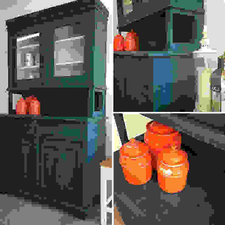 Restauro de um armário de cozinha rústico :   por Atelier Autêntico