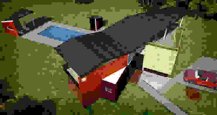 CASA CONTRERAS Casas de estilo ecléctico de Lápiz De Sueños Ecléctico