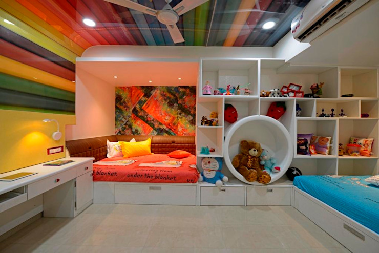 RESIDENTIAL PENTHOUSE INTERIORS:  Nursery/kid's room by AIS Designs,Modern