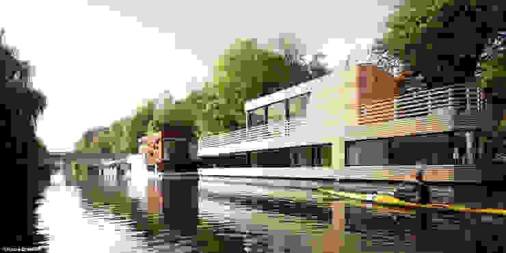 Casas modernas por Rost.Niderehe Architekten I Ingenieure Moderno Madeira Efeito de madeira