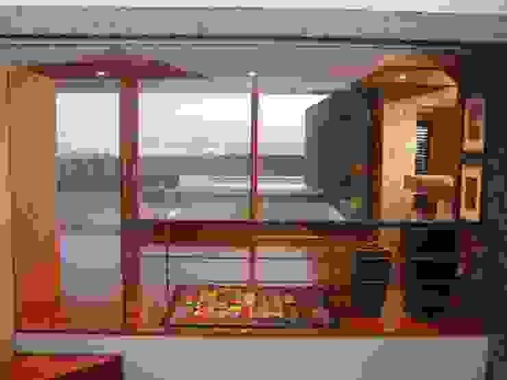 Vivienda Unifamiliar en Lanzarote Pasillos, vestíbulos y escaleras de estilo moderno de ADAC Arquitectura Moderno