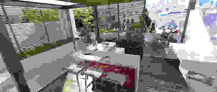 Balcones y terrazas de estilo moderno de Lápiz De Sueños Moderno