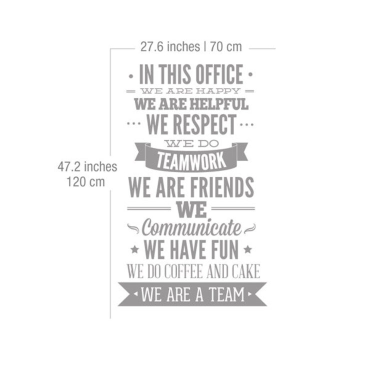 Office Decor Typography - In This Office - Wall Decal por MOONWALLSTICKERS.COM Moderno