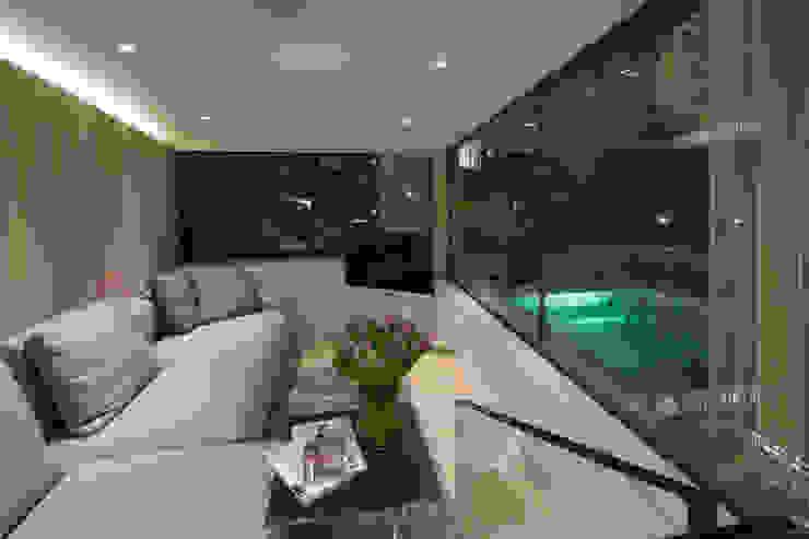 Folio Design | The Garden Room | Evening Living Room Folio Design Modern living room
