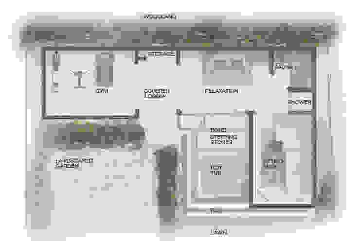 Folio Design | The Garden Room | Rendered Plan Folio Design