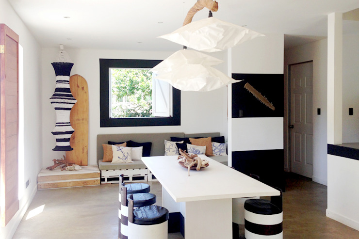 Beach cabin. Playa Avellanas, Costa Rica Eklektyczny salon od 2kul INTERIOR DESIGN Eklektyczny Drewno O efekcie drewna