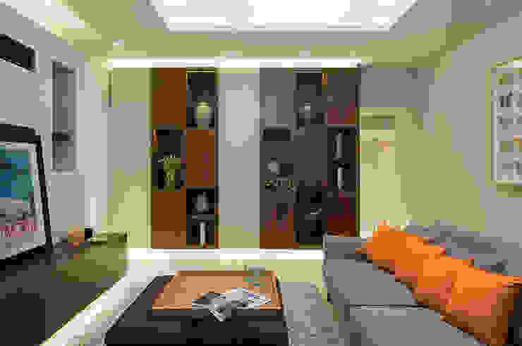 Projekty,  Salon zaprojektowane przez Folio Design, Nowoczesny Drewno O efekcie drewna