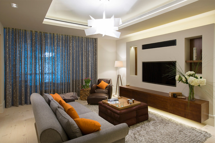 Folio Design | The Crafted House | Informal Living Room Folio Design Modern living room