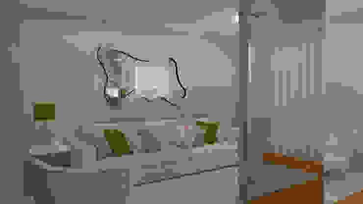 Moradia Felgueiras Salas de estar modernas por Macedo Barbosa Interiores Moderno