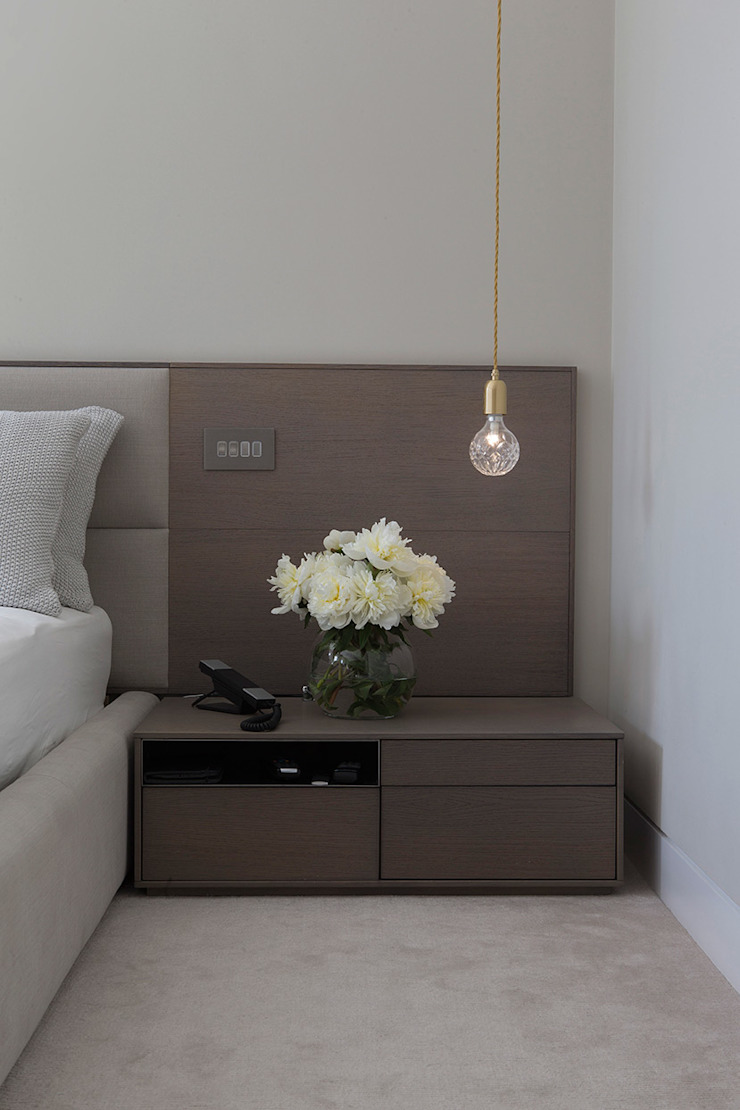 Folio Design | The Hampstead Home | Bedside Table Folio Design Modern style bedroom