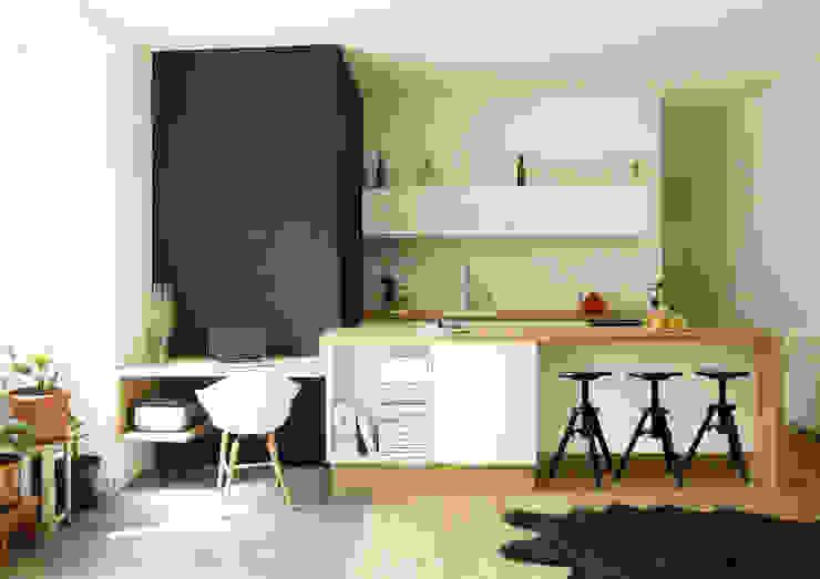 CUISINE / BUREAU / BUANDERIE par MAYA Architecture & Design Scandinave