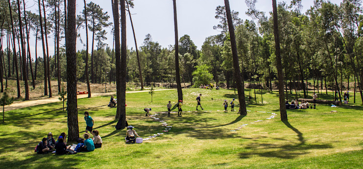 PARQUE AMBIENTAL DO BUÇAQUINHO Jardins modernos por Oh!land studio, lda Moderno