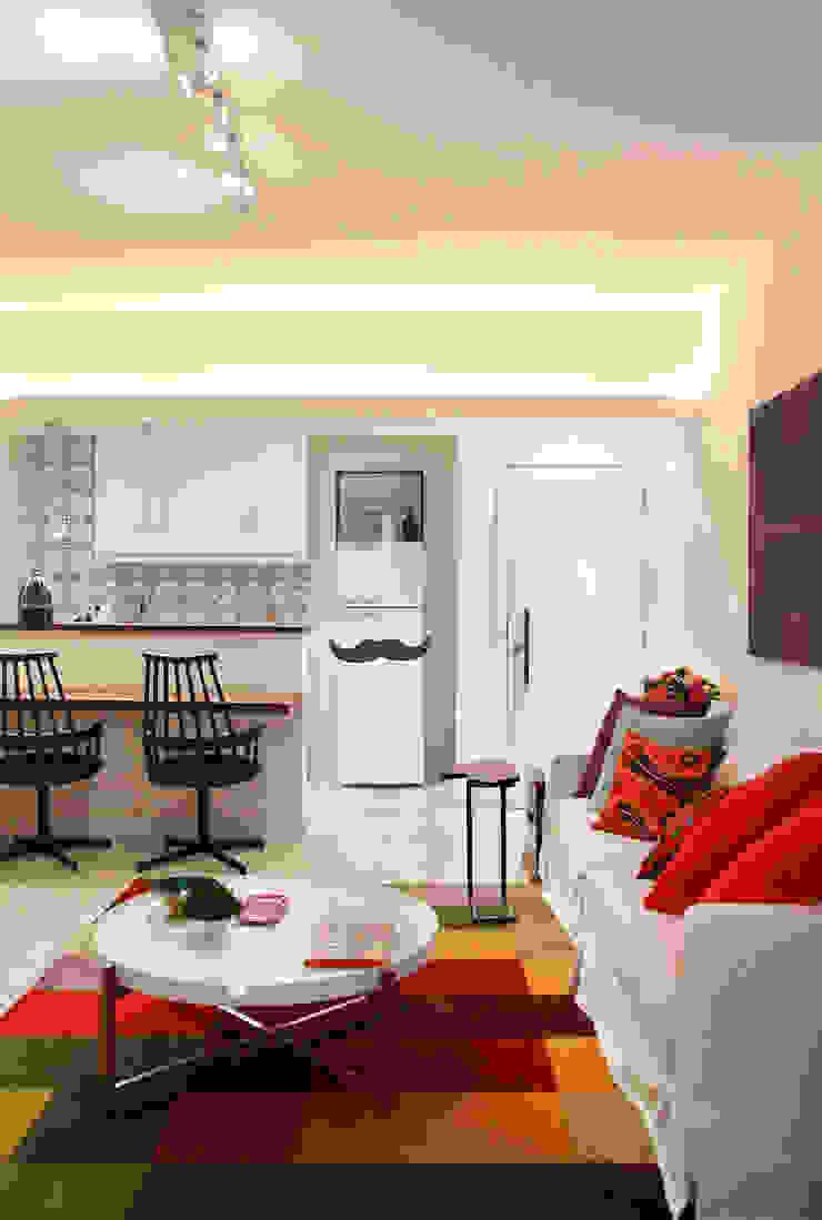 Apartamento Botafogo Salas de estar ecléticas por Mariana Dornelles Design de Interiores Eclético