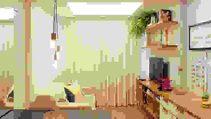 Гостиная в стиле модерн от fpr Studio Модерн