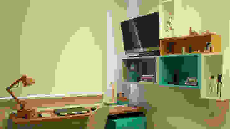 Projekty,  Domowe biuro i gabinet zaprojektowane przez fpr Studio, Nowoczesny