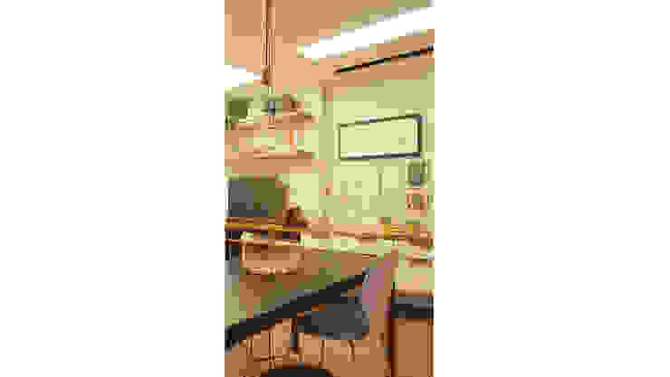Столовая комната в стиле модерн от fpr Studio Модерн