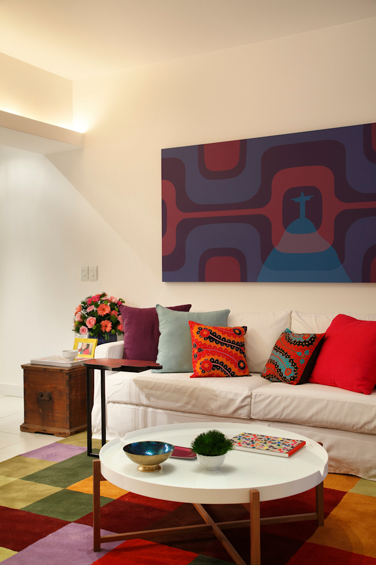 Mariana Dornelles Design de Interiores Eclectic style living room