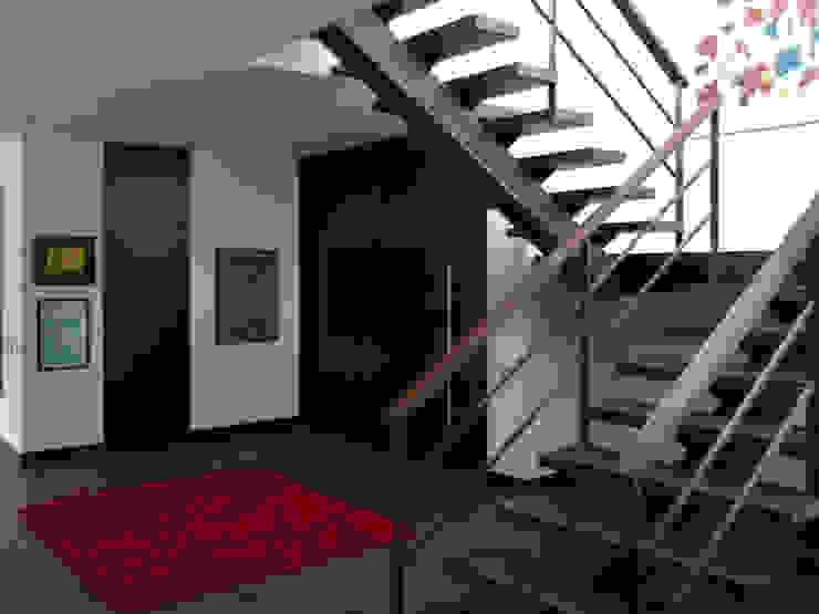 Pasillos, vestíbulos y escaleras modernos de David Macias Arquitectura & Urbanismo Moderno