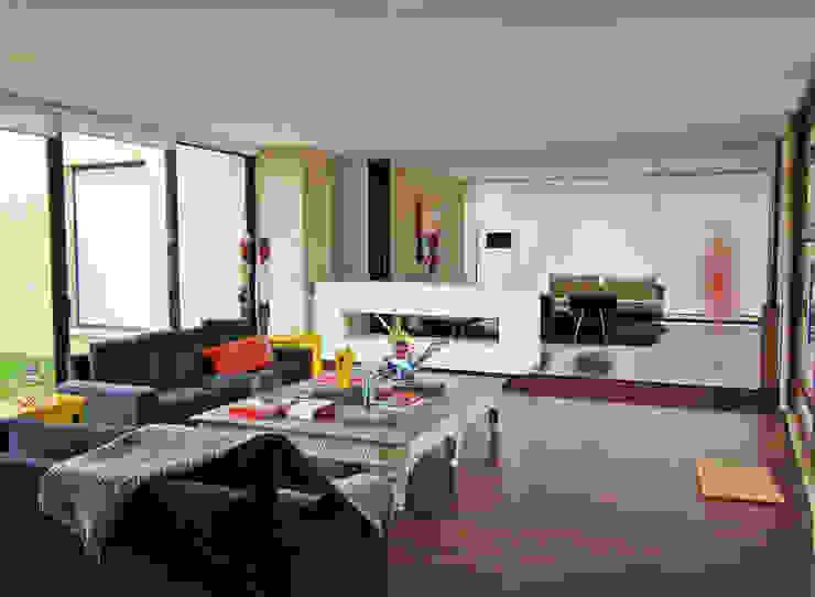 Casa H Salas de estilo minimalista de David Macias Arquitectura & Urbanismo Minimalista
