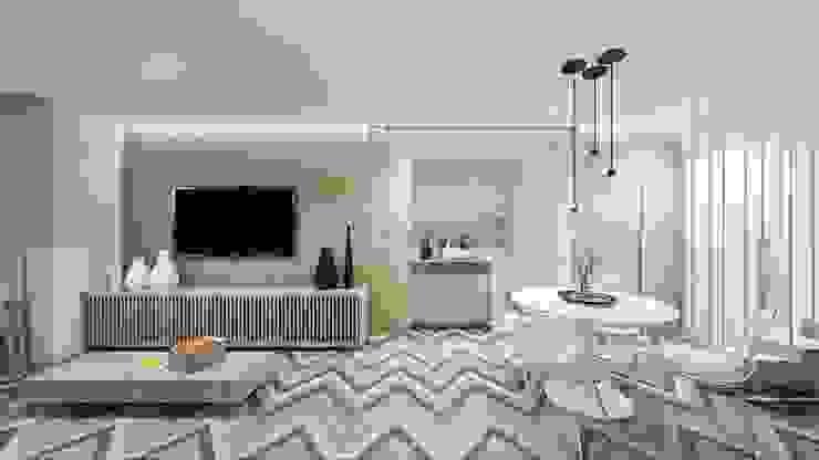 Sala de Estar e Jantar: Salas de estar  por fpr Studio