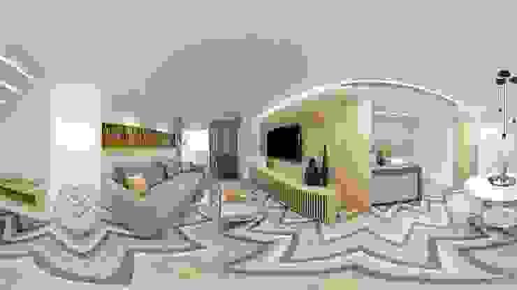 Sala Estar e Jantar Integradas Salas de estar escandinavas por fpr Studio Escandinavo