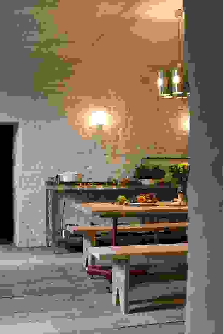 Kuchnia Wiejska kuchnia od Loft Kolasiński Wiejski Drewno O efekcie drewna