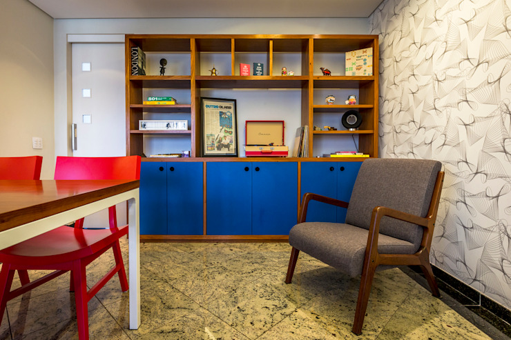 Modern dining room by Enzo Sobocinski Arquitetura & Interiores Modern Granite