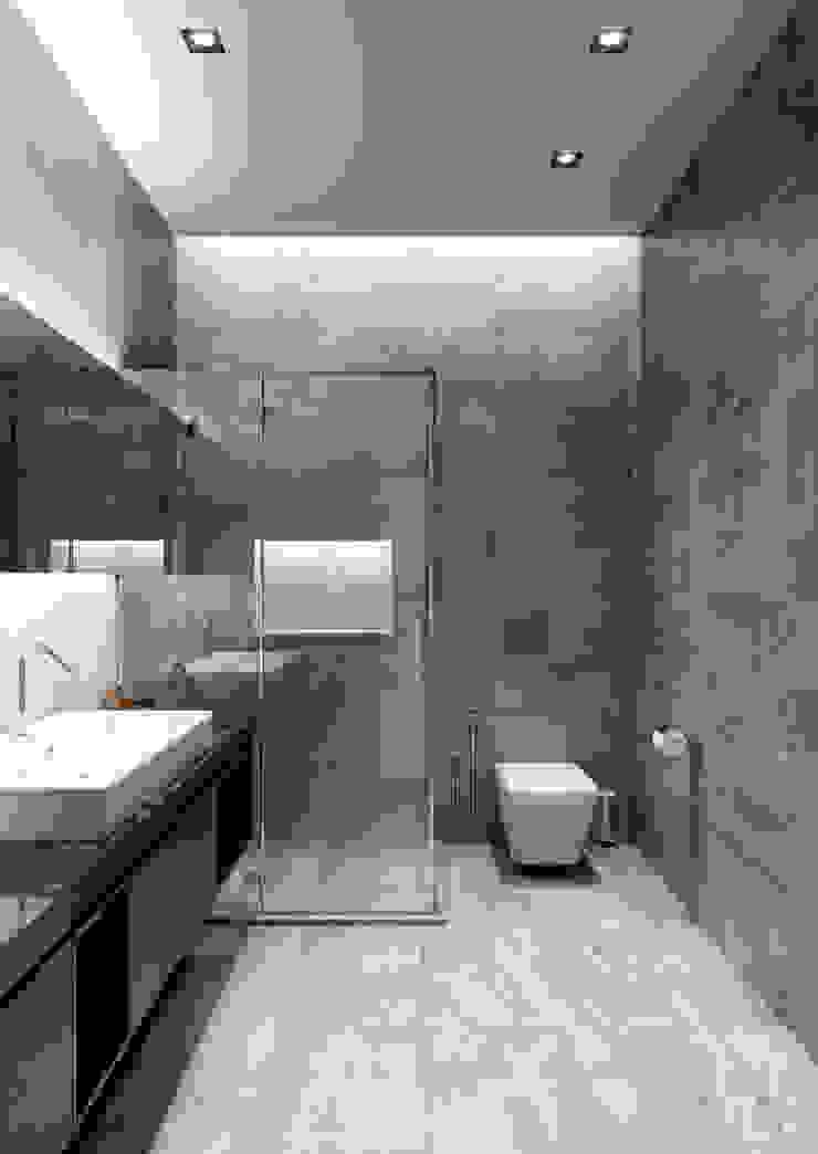 Современные апартаменты скульптора от студии DEnew Ванная комната в стиле минимализм от DEnew Минимализм