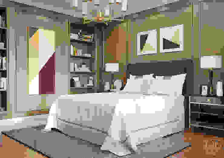 Интерьеры спален в кофейных тонах Спальня в стиле модерн от DEnew Модерн