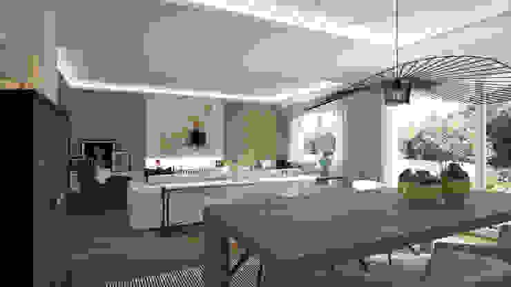 Salas de estar modernas por Disak Studio Moderno Madeira Acabamento em madeira