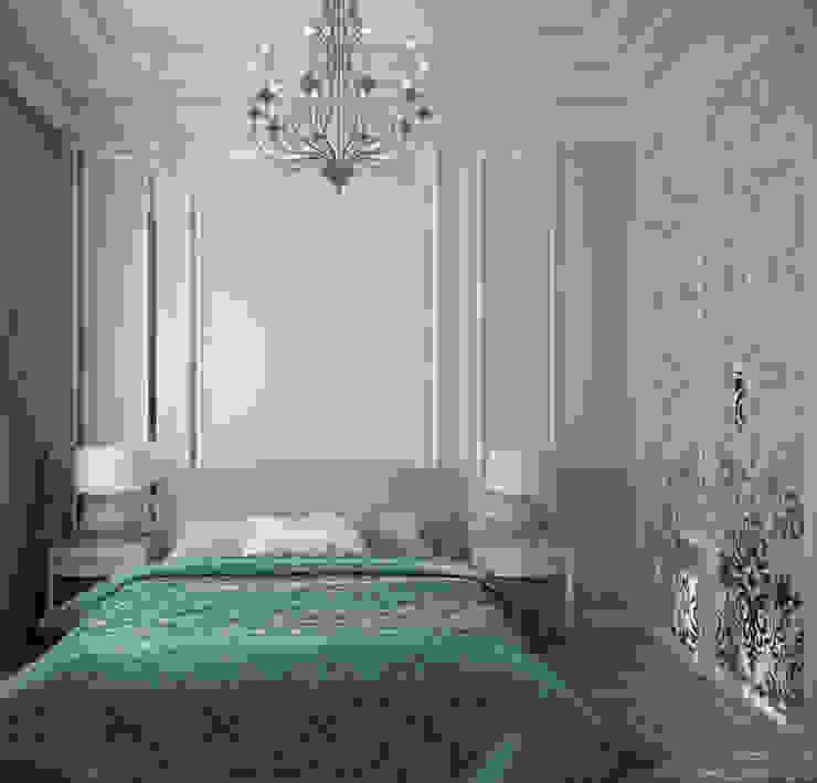 Дизайн спальни в классическом стиле в г. Абинск Спальня в классическом стиле от Студия интерьерного дизайна happy.design Классический