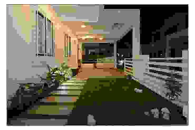 Bungalow project Modern balcony, veranda & terrace by CK Interiors Pvt Ltd Modern