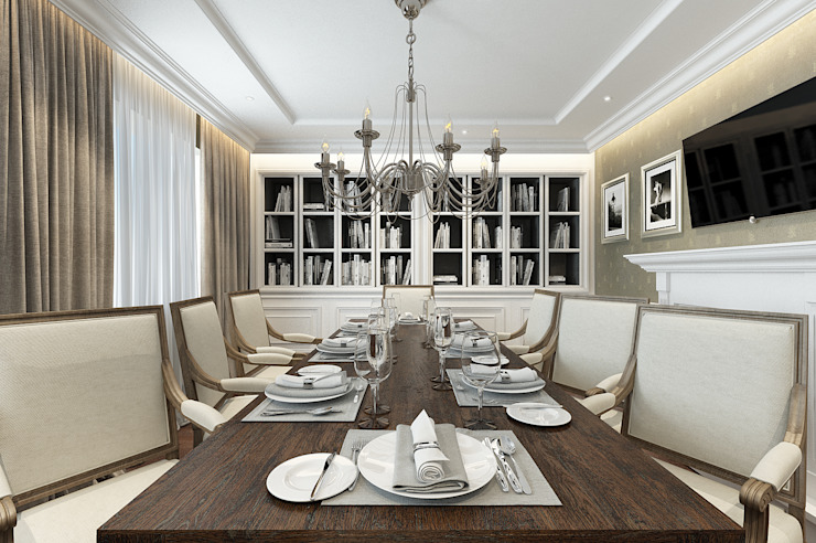 House on St.George Hill Classic style dining room by EVGENY BELYAEV DESIGN Classic