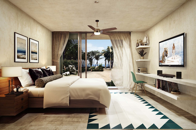 Villas Santa Clara Dormitorios modernos de TNGNT arquitectos Moderno