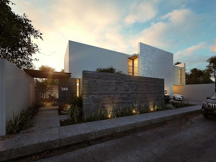 Jardines de estilo  por TNGNT arquitectos, Moderno