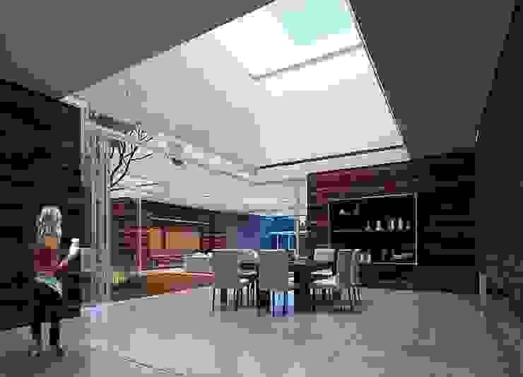 Casa HH Salones modernos de TNGNT arquitectos Moderno