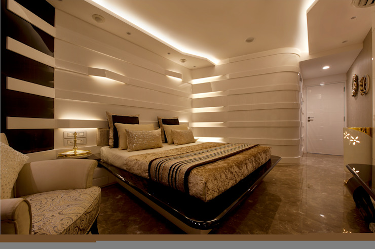 Bridal Room, Mumbai. Eclectic style bedroom by SDA designs Eclectic