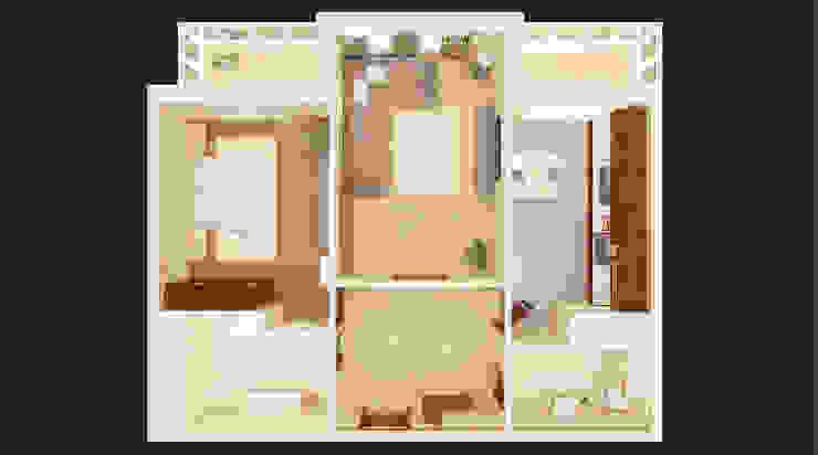 Планировочные решения для малогабаритных квартир. Проект 1. от ООО 'Бастет'