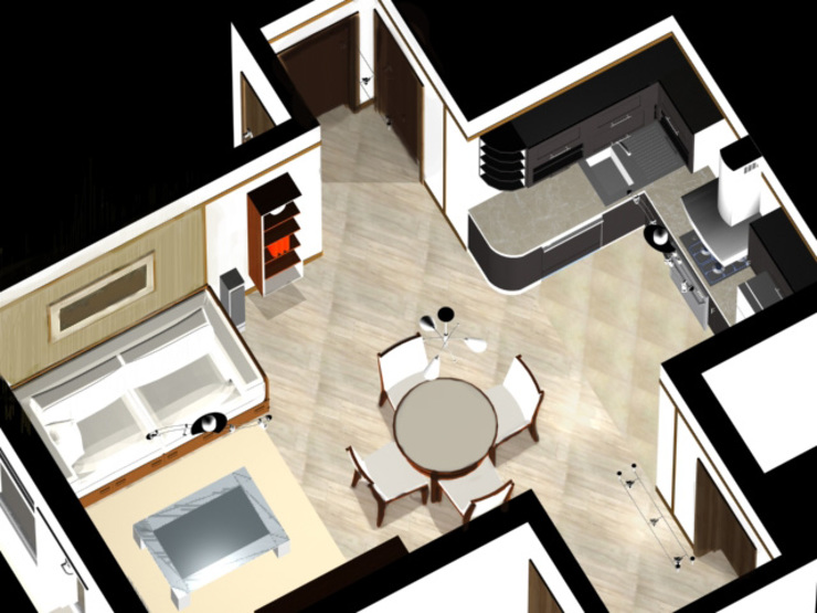Планировочные решения для малогабаритных квартир. Проект 2. от ООО 'Бастет'