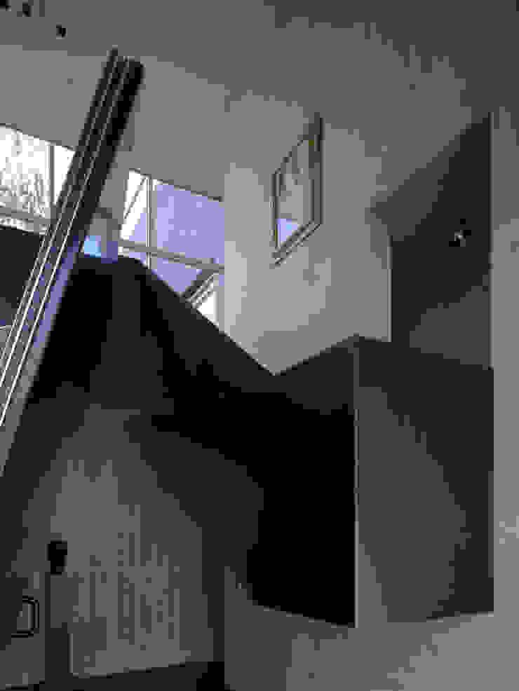 Villa in de duinen, Hoek van Holland Moderne gangen, hallen & trappenhuizen van De Zwarte Hond Modern IJzer / Staal