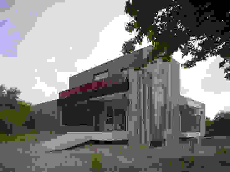 Villa in de duinen, Hoek van Holland Moderne balkons, veranda's en terrassen van De Zwarte Hond Modern