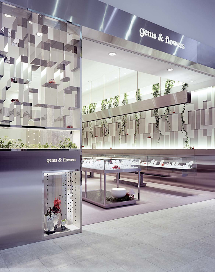 gems & flowers オリジナルな商業空間 の 岩本賀伴建築設計事務所 オリジナル