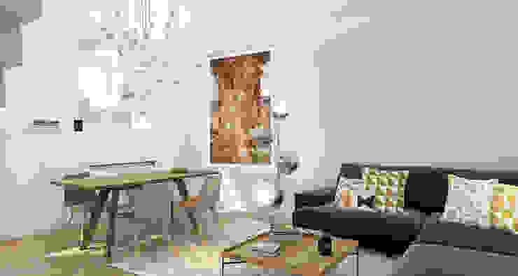 스칸디나비아 거실 by ZR-architects 북유럽
