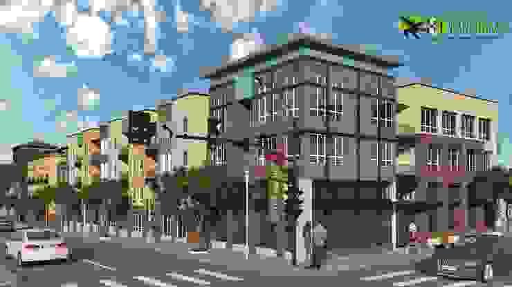 3D Residential Exterior Cgi Design: modern  by Yantram Architectural Design Studio, Modern