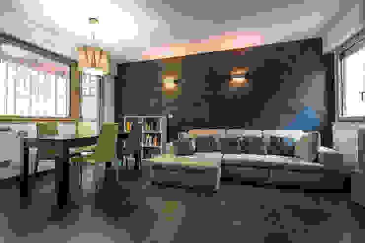 Villa a schiera Roma Soggiorno moderno di Laura Galli Architetto Moderno