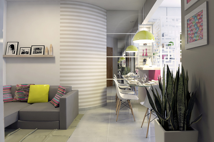 Apartamento Regiane e Bráulio Salas de estar modernas por Anelisy Lima Arquitetura e Design Moderno