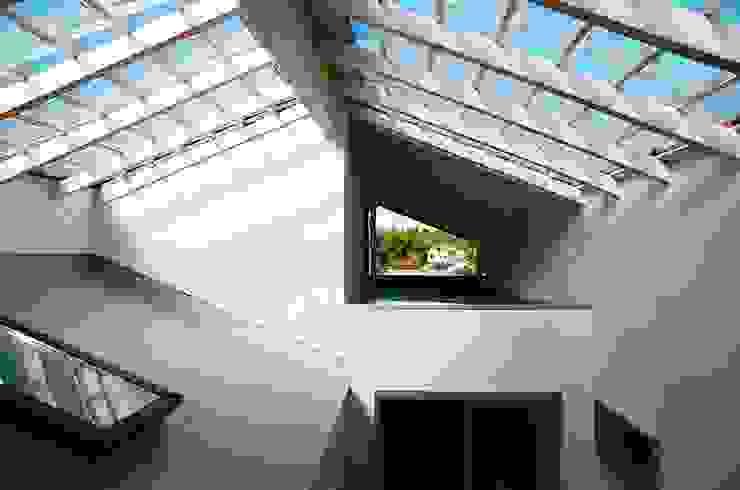 透き抜ける家 モダンデザインの テラス の 麻生建築設計工房 モダン