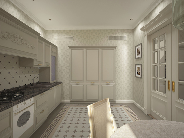 Проект квартиры Кухня в классическом стиле от Лилия Панкова Классический