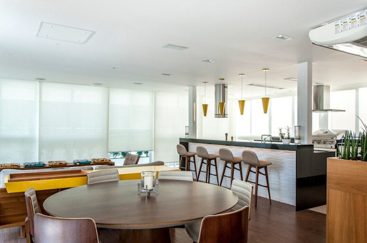 Residência Barra da Tijuca AR Arquitetura & Interiores Ruang Makan Modern